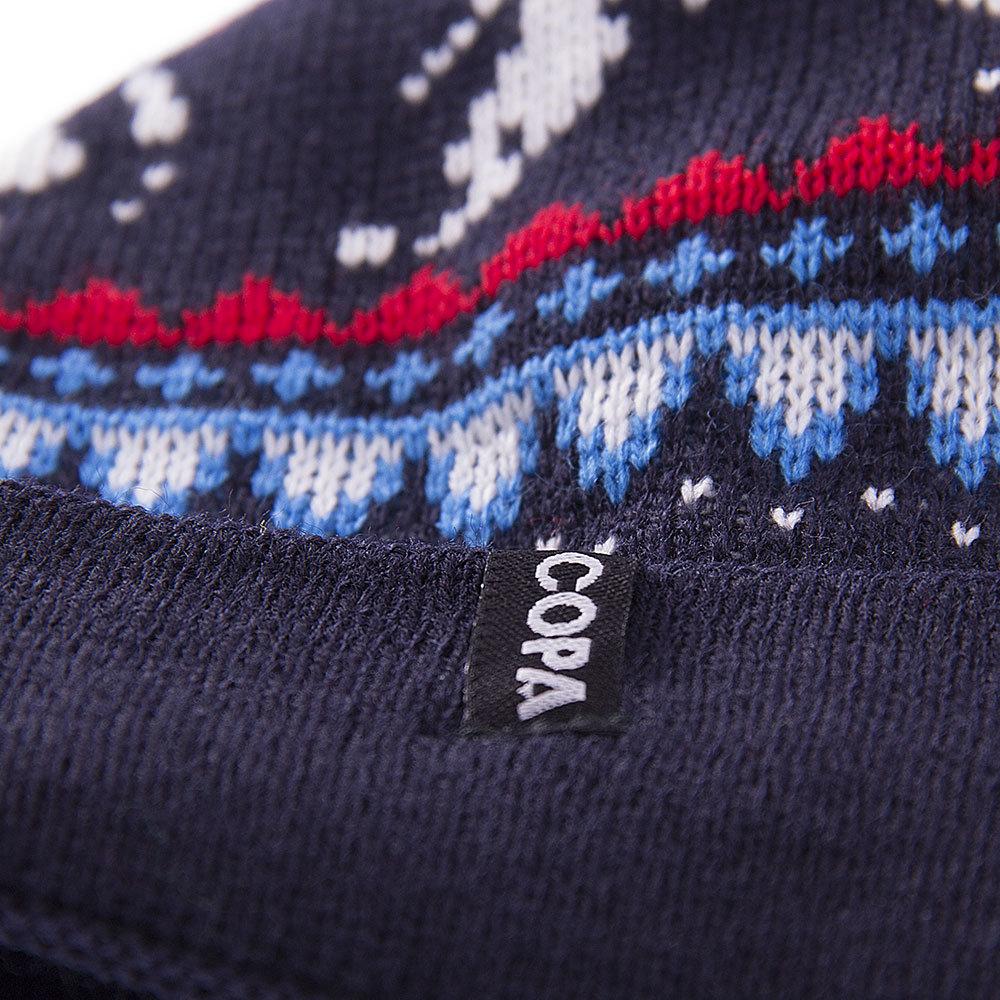 Copa Nordic Knit Beanie Navy - Retro Football Club ® 354685124b34