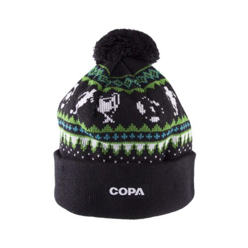 Copa Nordic Knit Beanie Black Green