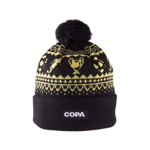 Copa Nordic Knit Beanie Black Yellow