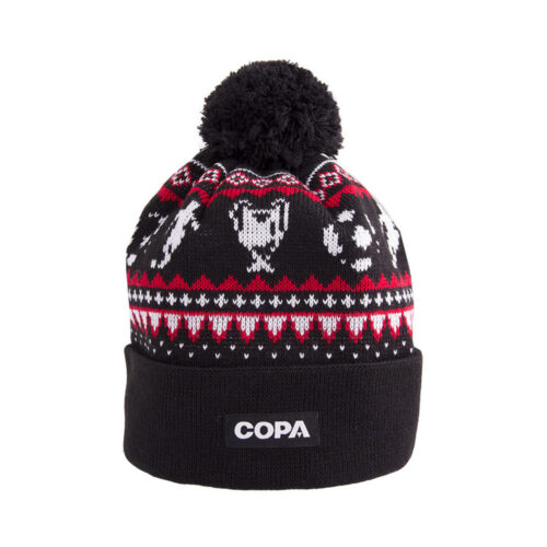 Copa Nordic Knit Beanie Black Red