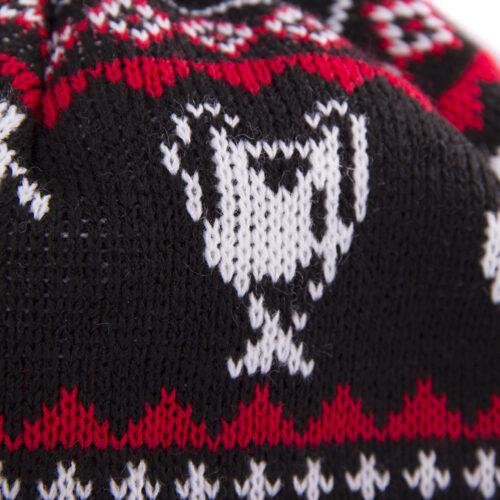 Copa Nordic Knit Berretto Nero Rosso