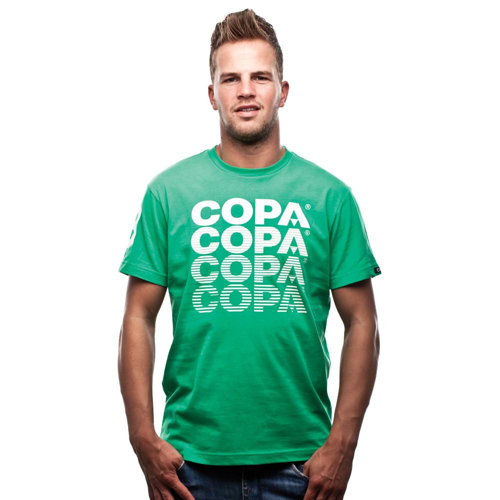 Copa Striped Logo Tee Shirt Casual