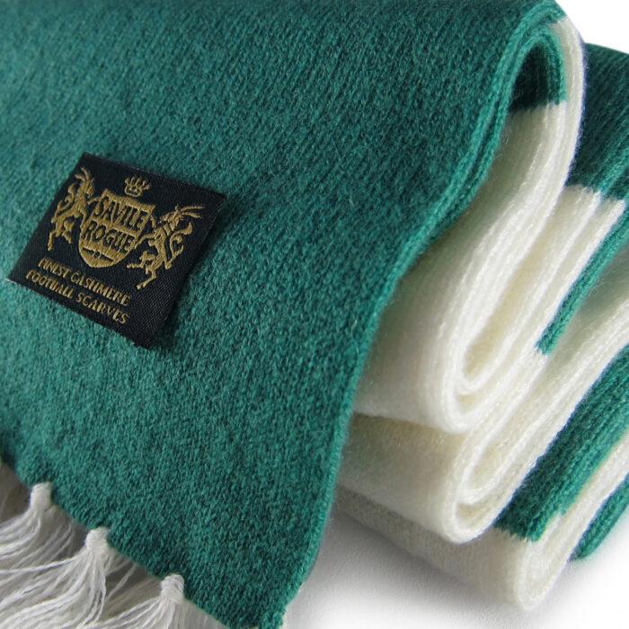 Sciarpa Cashmere Bianco-Verde Deluxe