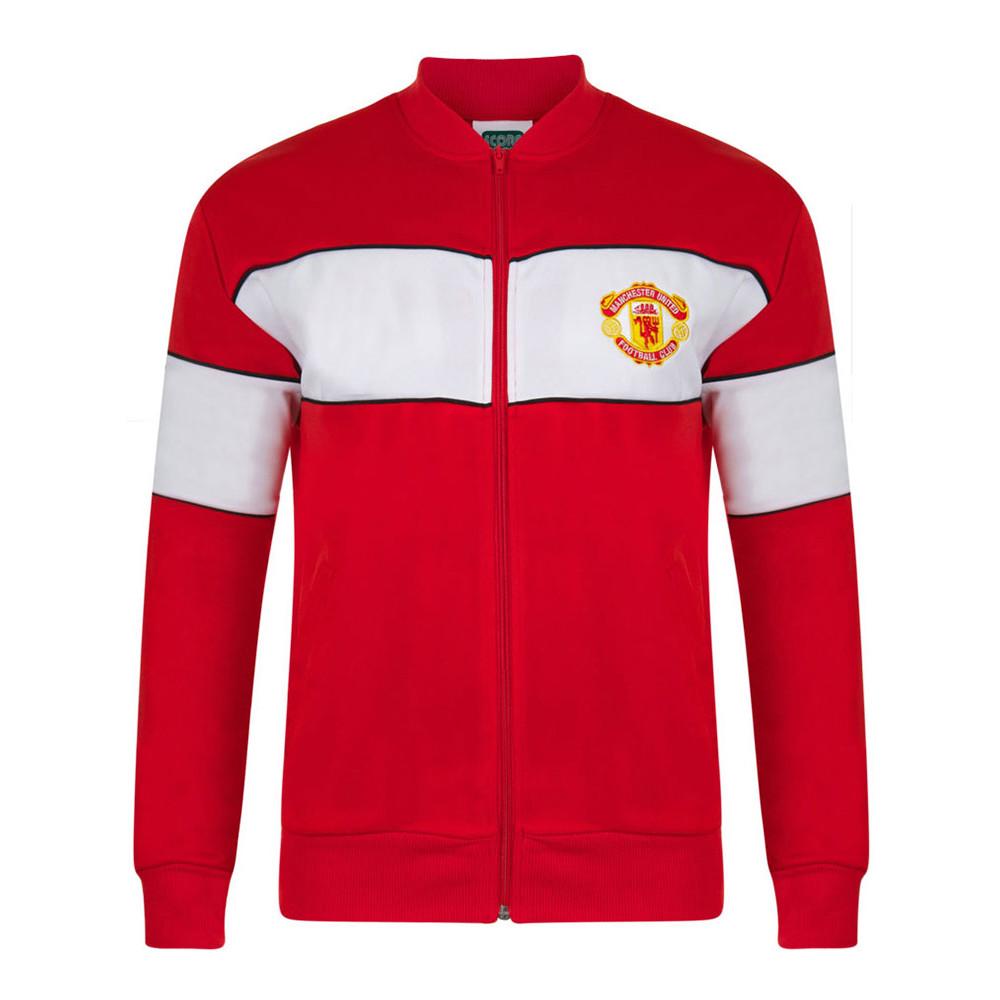 25270a680 Manchester United 1984-85 Retro Football Track Top - Retro Football ...