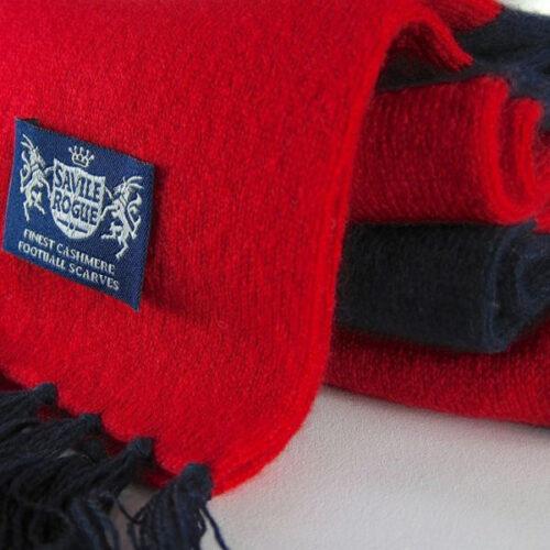 Sciarpa Cashmere Blu-Rosso Deluxe