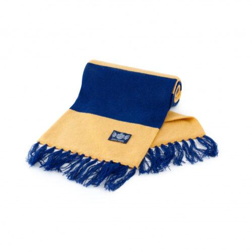 Sciarpa Cashmere Blu-Giallo Deluxe