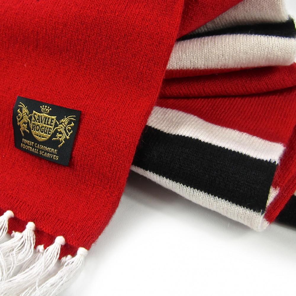 Sciarpa Cashmere Rosso-Bianco-Nero Deluxe