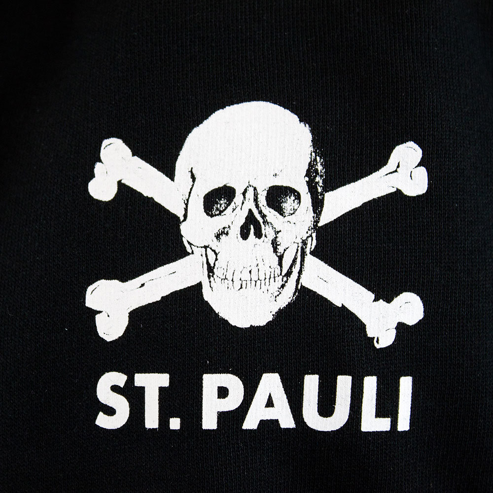 Fabelhaft St Pauli Totenkopf II Casual Sweater Black - Retro Football Club ® &UD_71