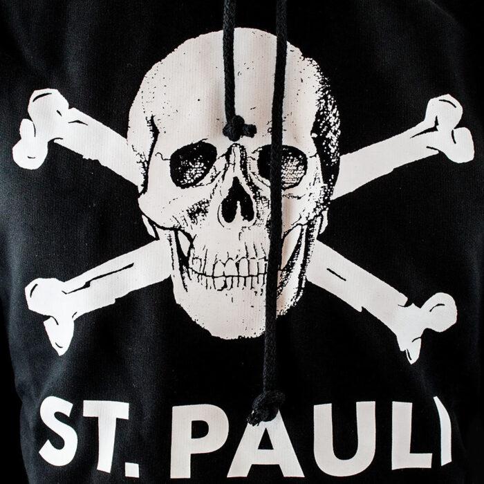 St Pauli Totenkopf Felpa Casual Nera