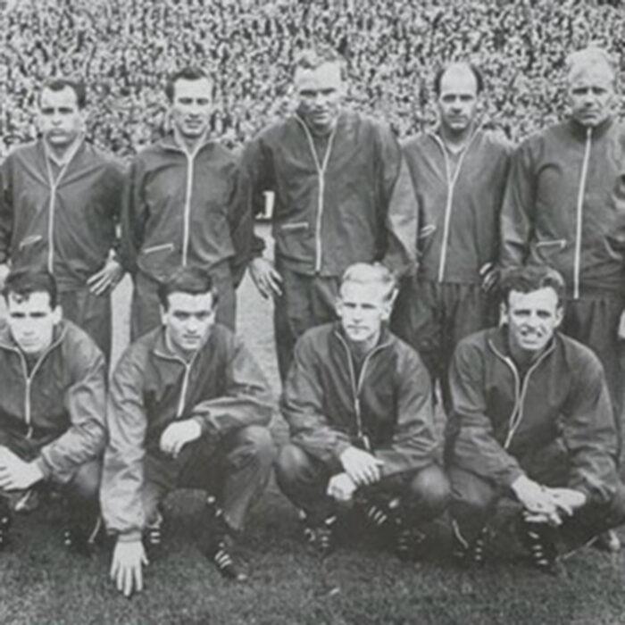 Danimarca 1965 Giacca Storica Calcio
