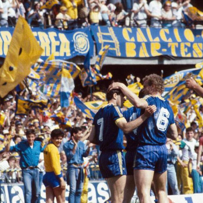 Hellas Verona 1984-85 Giacca Storica Calcio