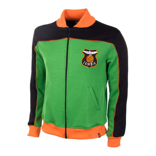Zambia 1986 Retro Football Track Top