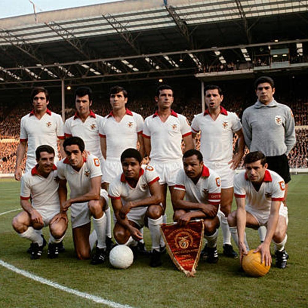 Benfica 1967-68 Away Maglia Storica Calcio