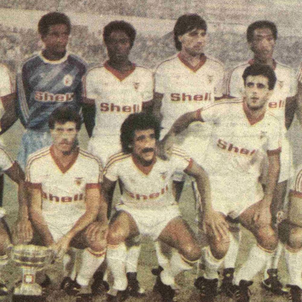 Benfica 1984-85 Away Maglia Storica Calcio