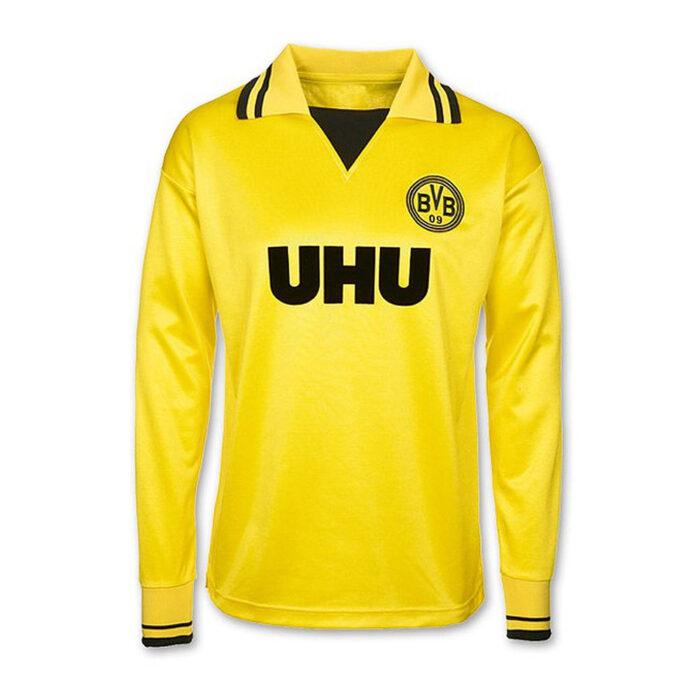 Borussia Dortmund 1981-82 Maillot Rétro Football