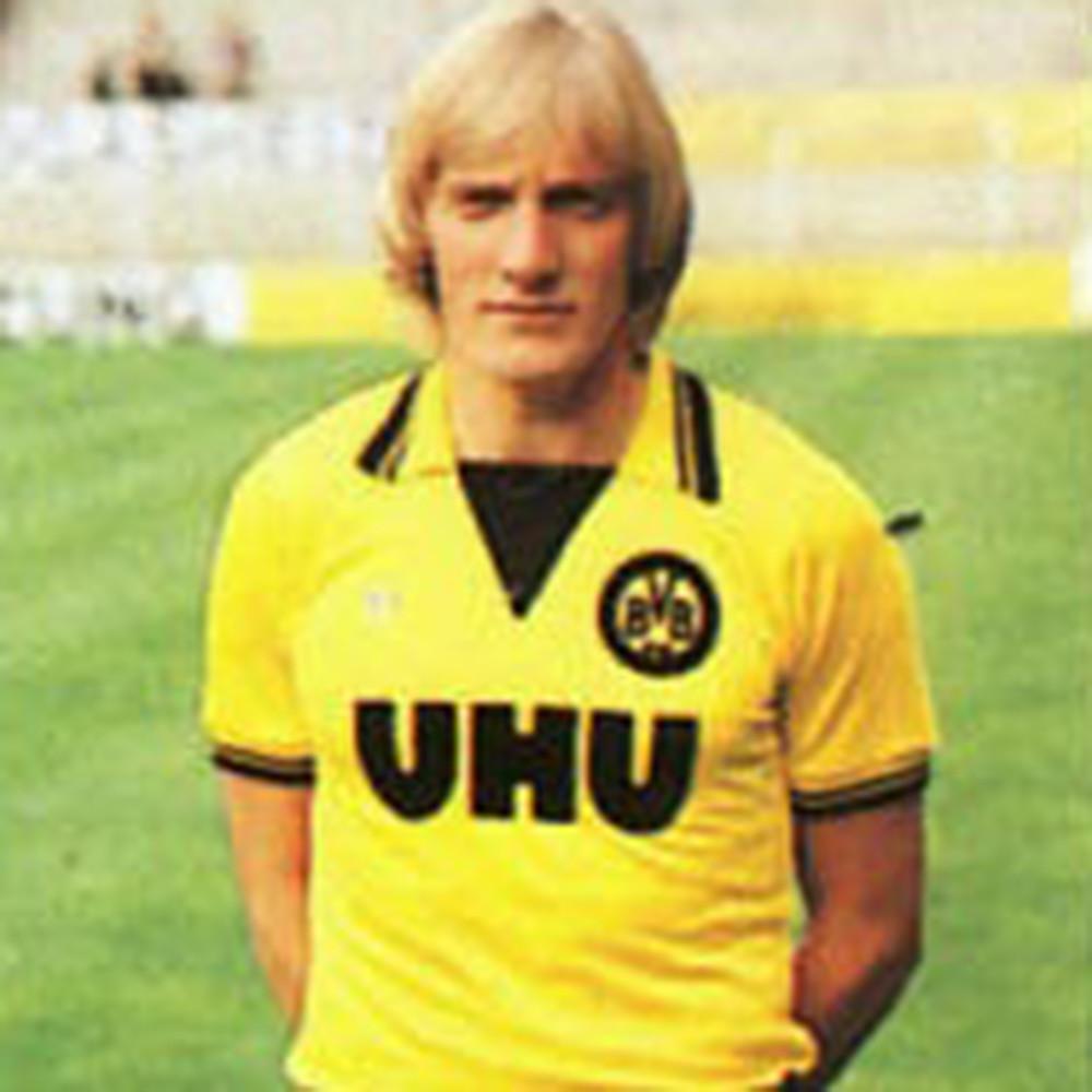 Borussia Dortmund 1981-82 Maglia Calcio Storica