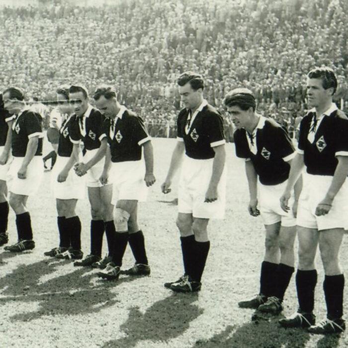 Borussia Monchengladbach 1960-61 Maglia Calcio Storica