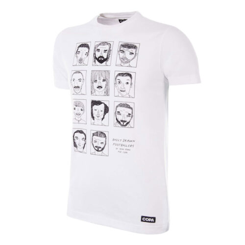 Copa Badly Drawn Footballers Tee Shirt Casual Blanc