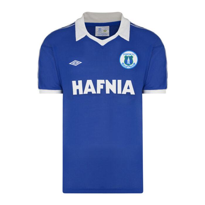 Everton 1980-81 Camiseta Retro Fútbol
