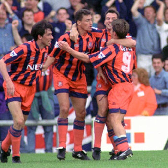 Everton 1992-93 Away Maglia Storica Calcio