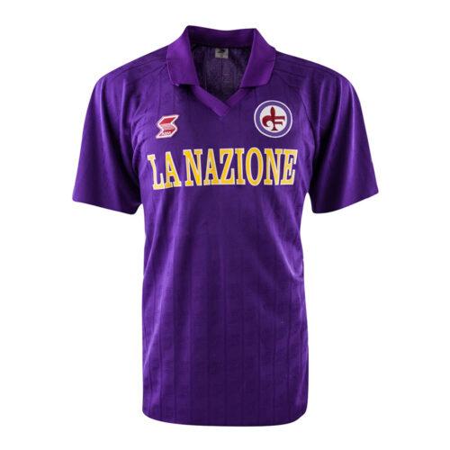 Fiorentina 1989-90 Camiseta Retro Fútbol