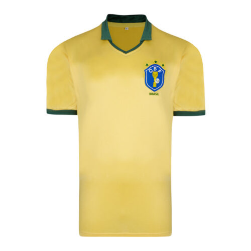 Brazil 1986 Retro Football Shirt
