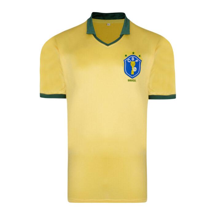 Brasil 1986 Camiseta Retro Fútbol