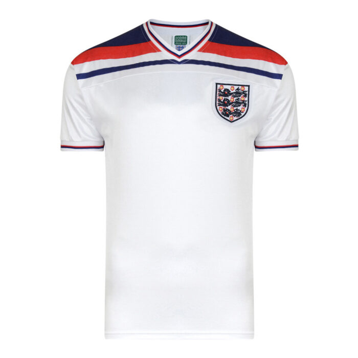 Angleterre 1982 Maillot Rétro Foot
