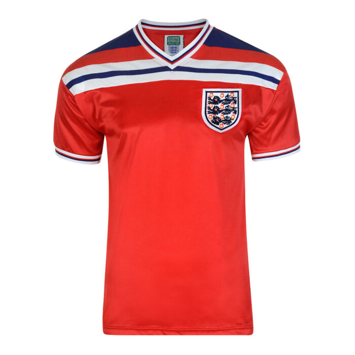 Angleterre 1982 Maillot Rétro Football