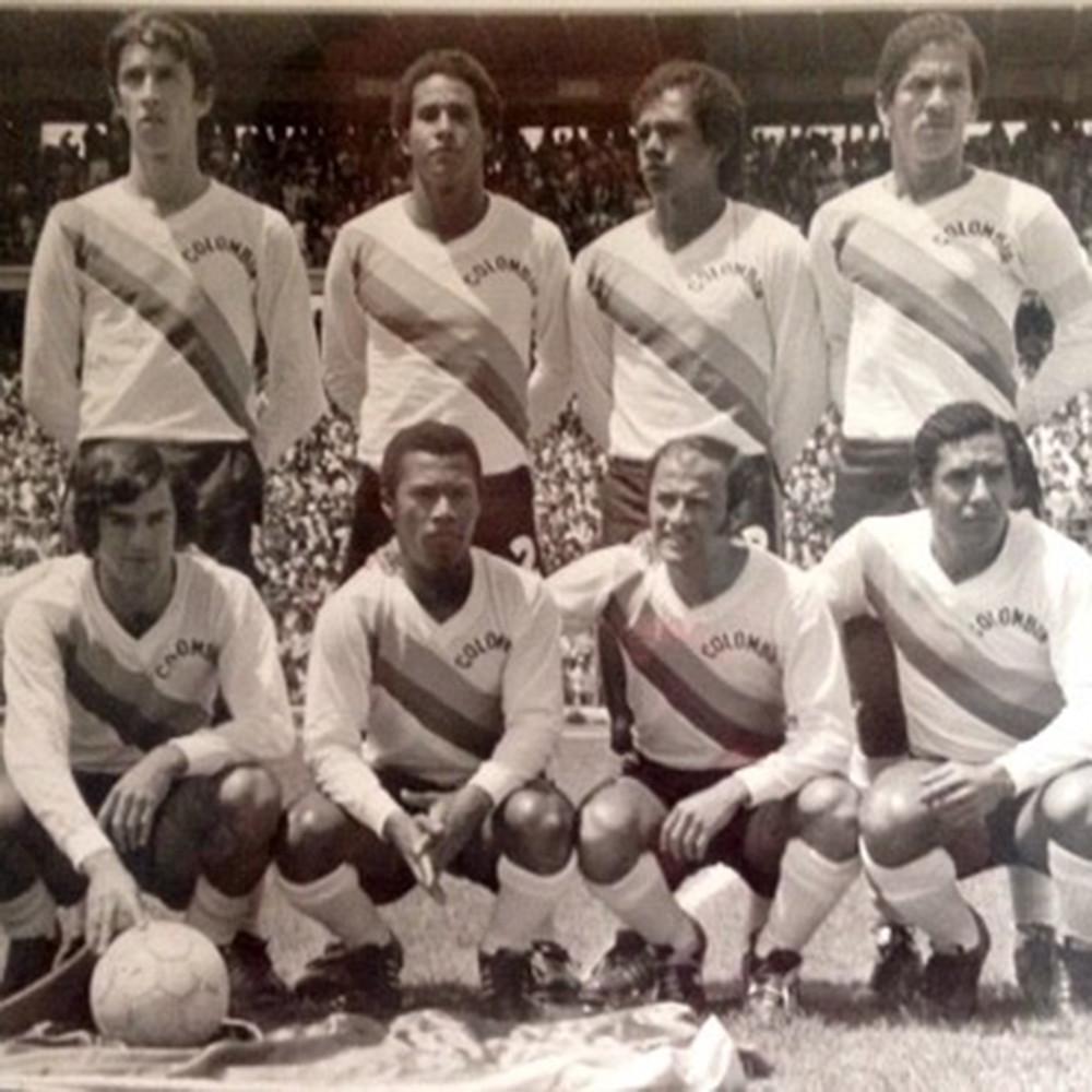 Colombia 1973 Away Maglia Storica Calcio