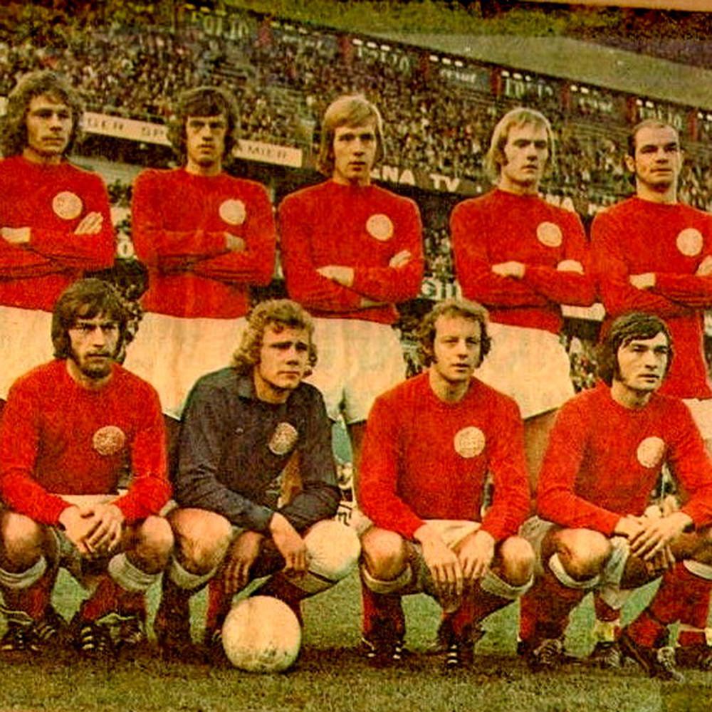 Danimarca 1972 Maglia Storica Calcio