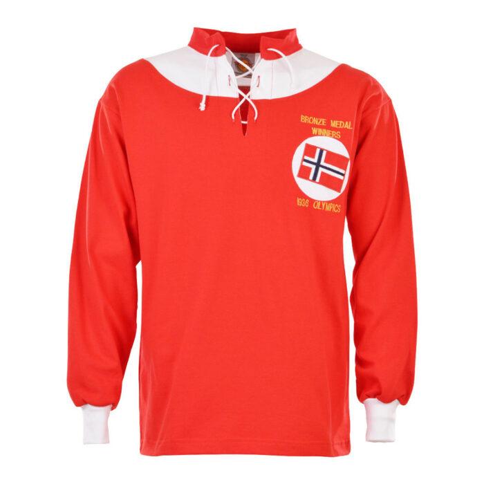Norway 1936 Retro Football Shirt
