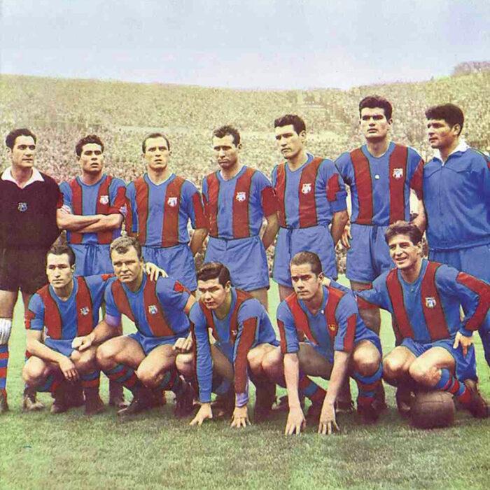 Barcellona 1955-56 Maglia Storica Calcio