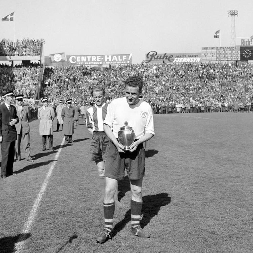 AGF Aarhus 1956-57 Maglia Storica Calcio