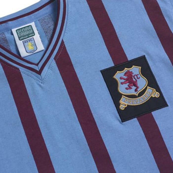 Aston Villa 1956-57 Away Maglia Storica Calcio