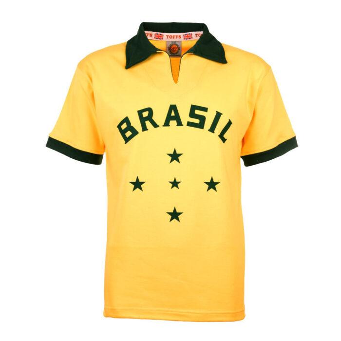 Brazil 1956 Retro Football Shirt