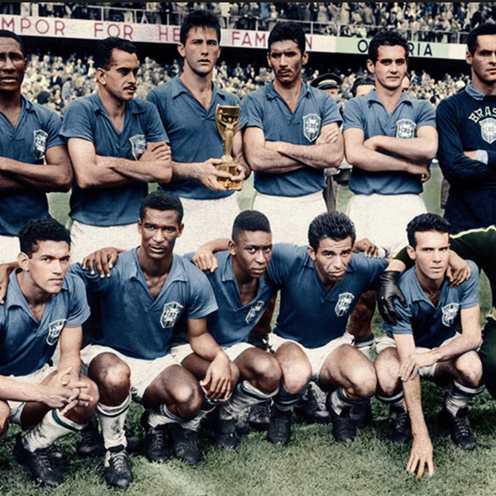 Brasile 1958 Away Maglia Storica Calcio