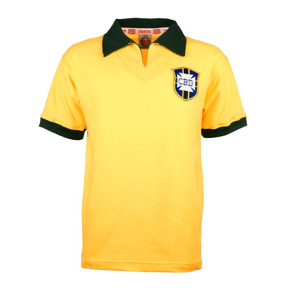 Brasil 1962 Camiseta Retro Fútbol