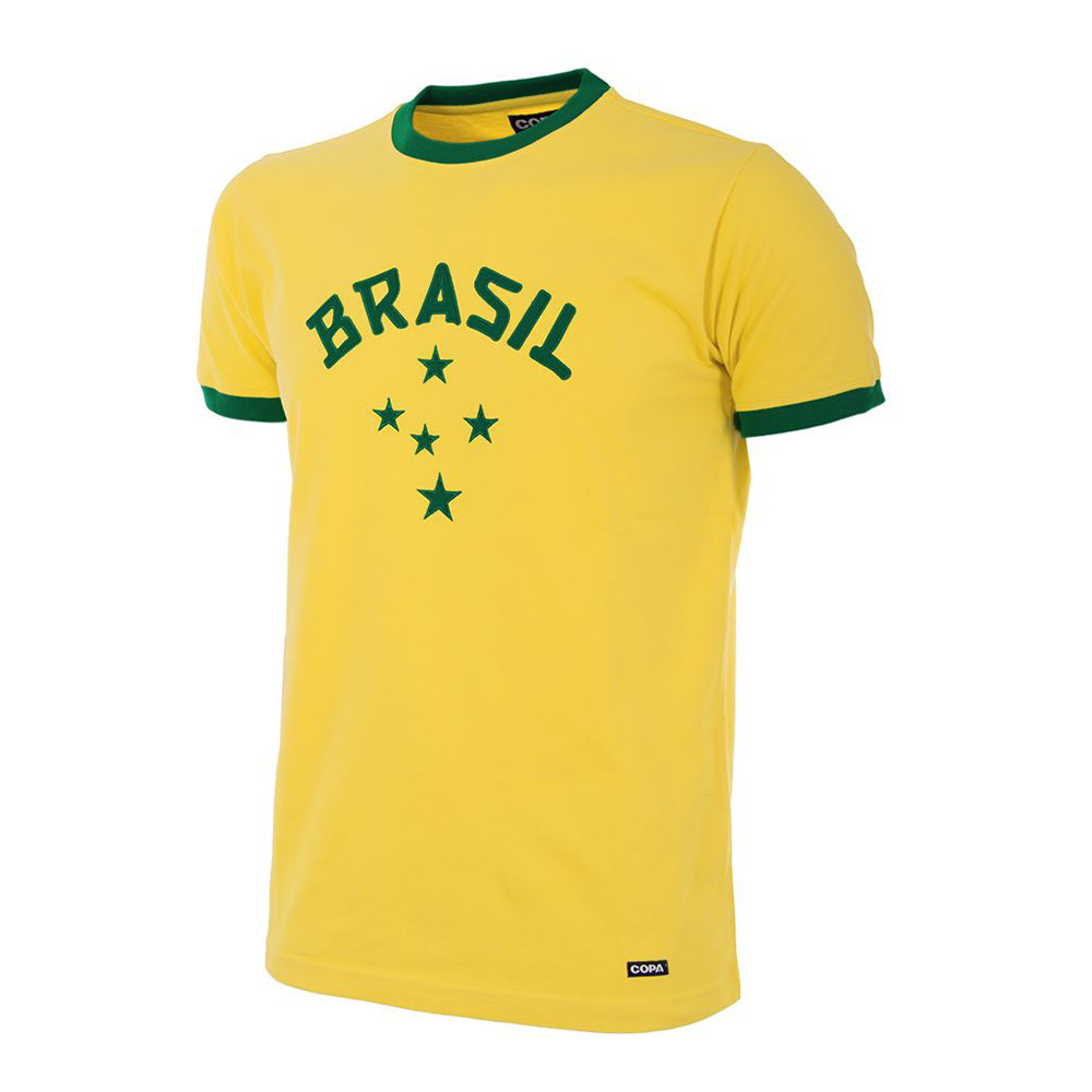 Brazil 1976 Retro Football Shirt