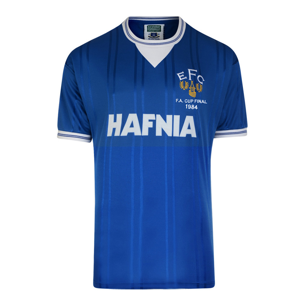 Everton 1983-84 Camiseta Retro Fútbol