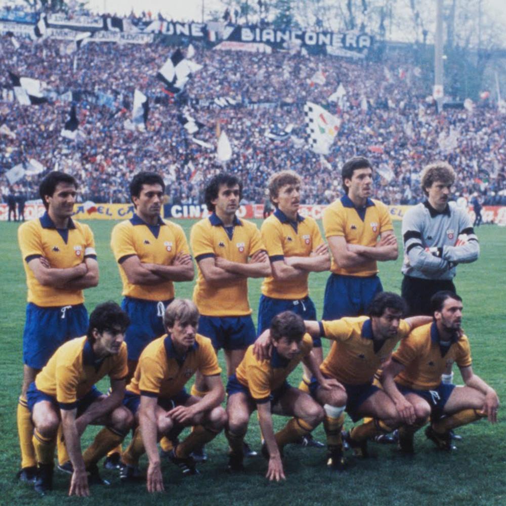Juventus 1983-84 Away Maglia Calcio Storica
