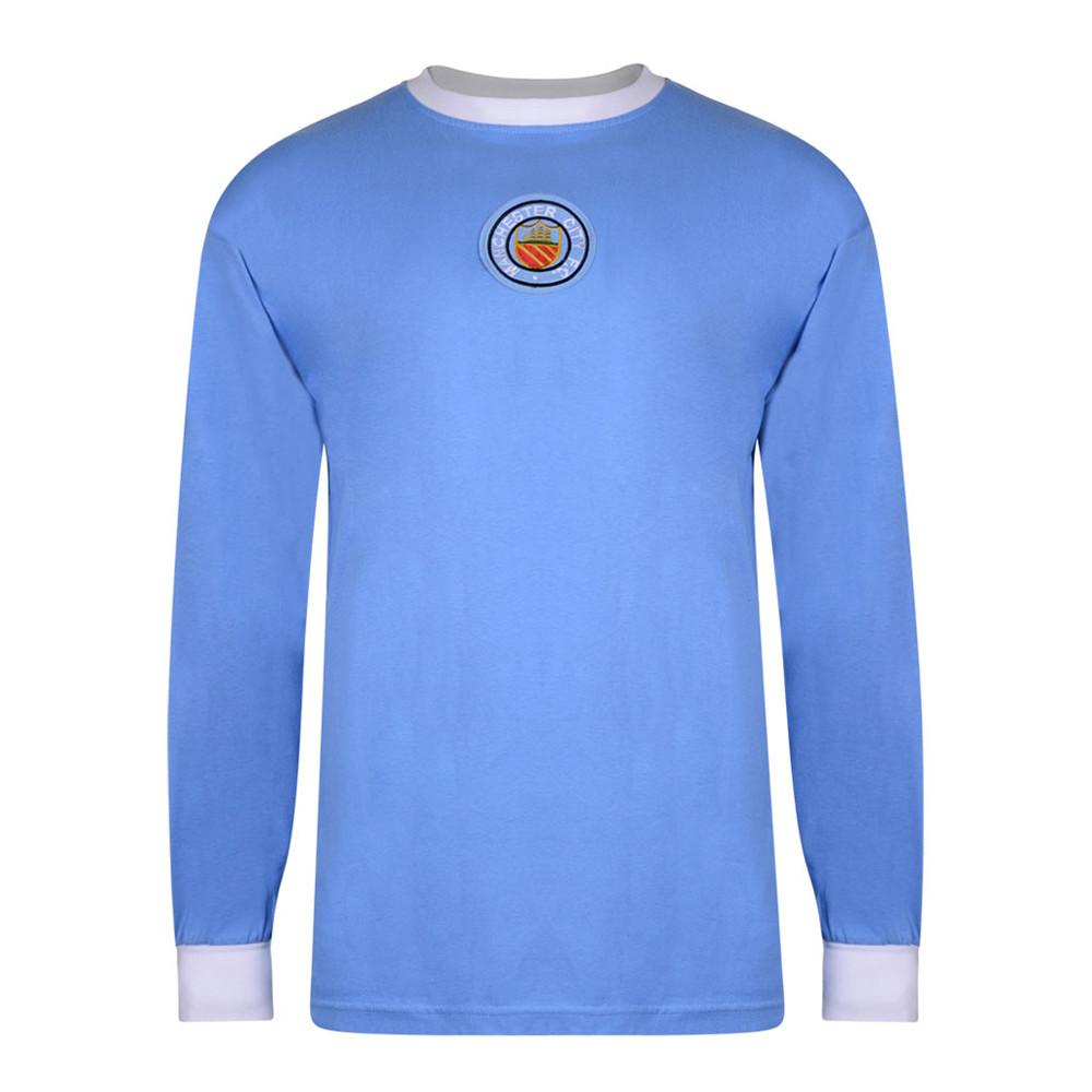 Manchester City 1971-72 Camiseta Retro Fútbol