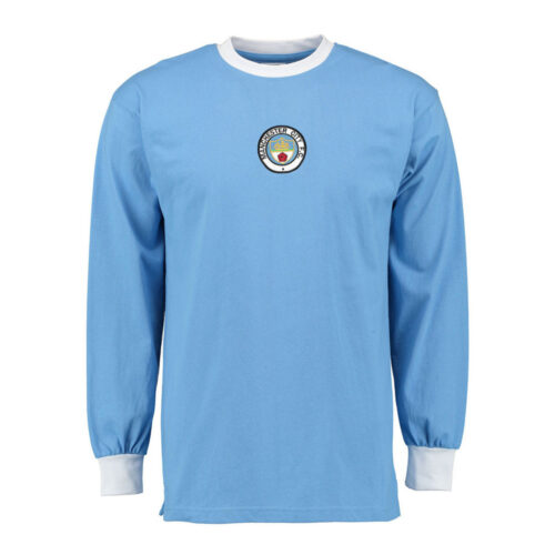 Manchester City 1972-73 Camiseta Retro Fútbol