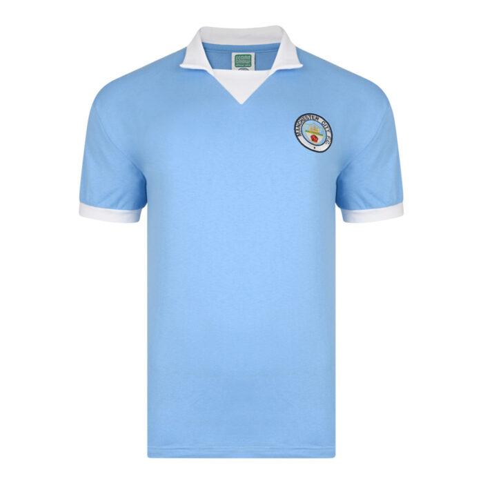 Manchester City 1975-76 Camiseta Retro Fútbol