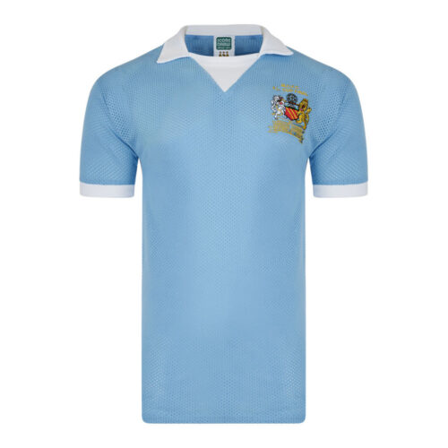 Manchester City 1975-76 Camiseta Fútbol Retro