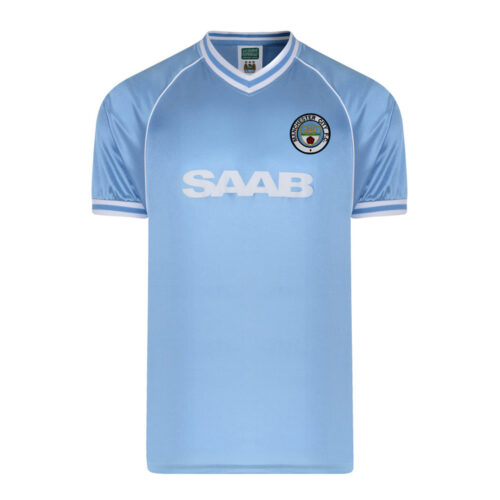 Manchester City 1982-83 Camiseta Retro Fútbol