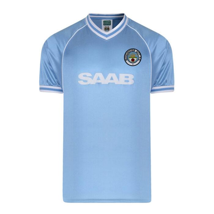 Manchester City 1982-83 Camiseta Retro Fútbol