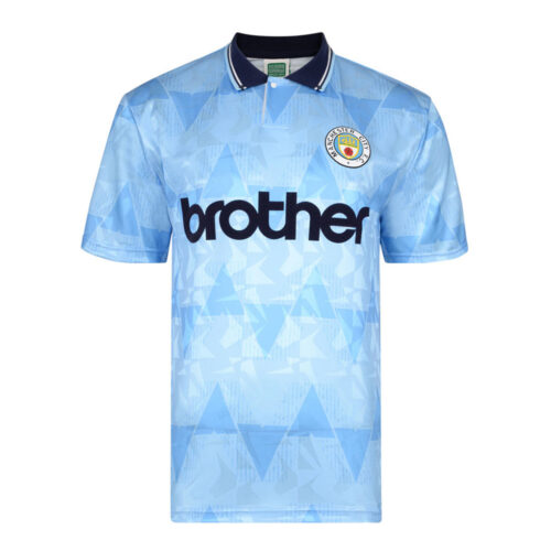 Manchester City 1989-90 Camiseta Retro Fútbol