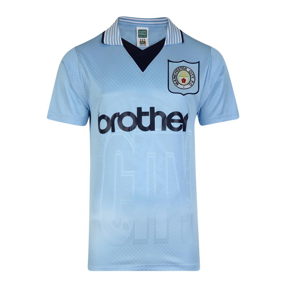 the latest 5fb7e ce6e2 Manchester City 1996-97 Retro Football Shirt