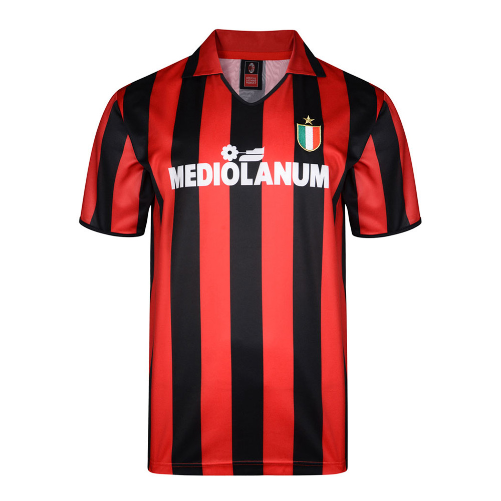 Milan 1988-89 Camiseta Retro Fútbol